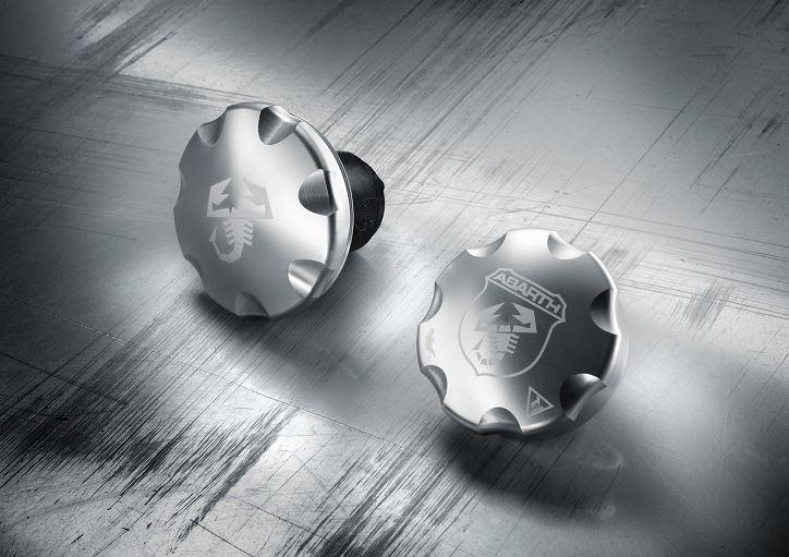 Abarth Aluminium Öleinfülldeckel + Tankdeckel