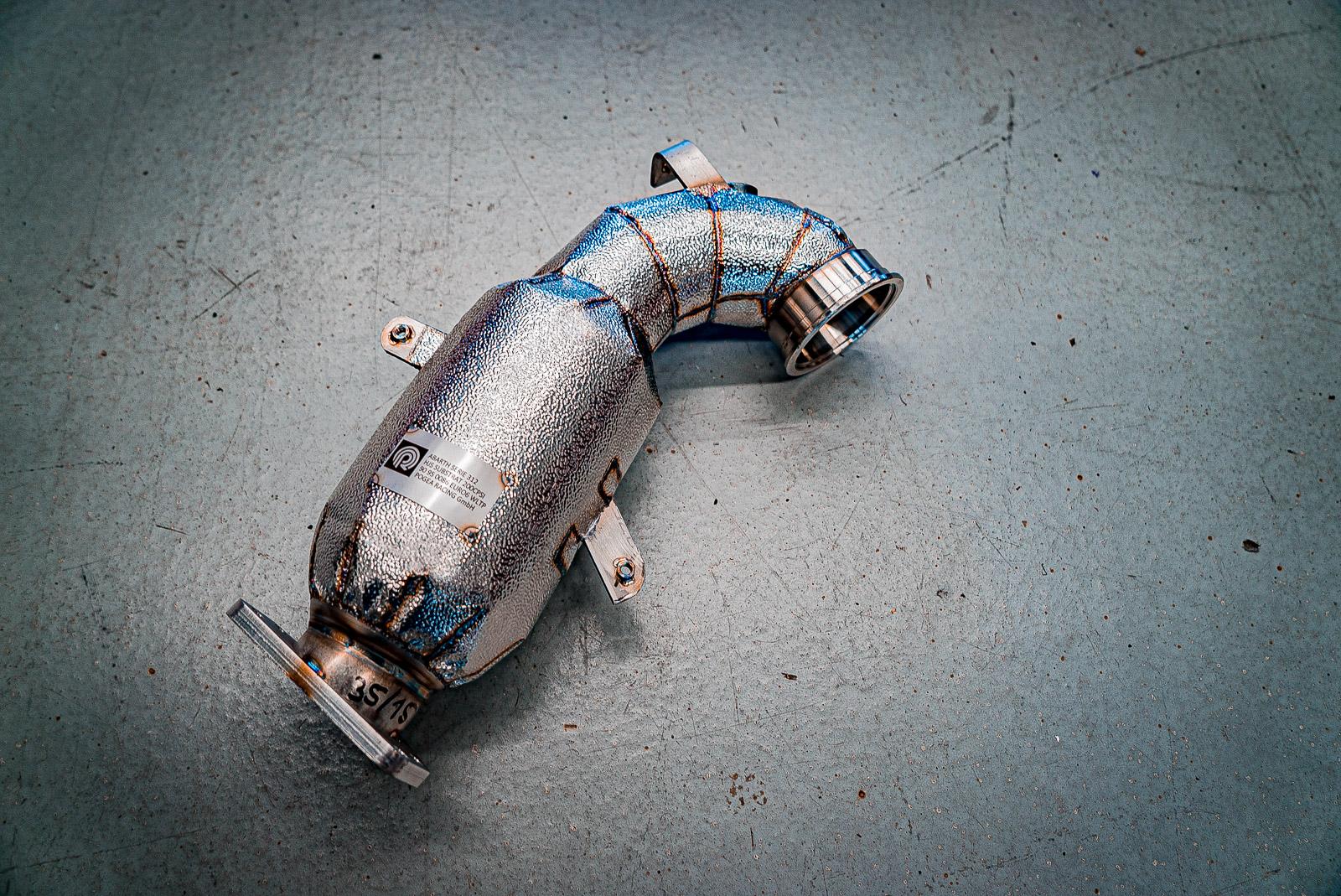 Abarth 595 Leistungssteigerung Stage1k 205PS inkl. Downpipe 200CPSI Grobkorn/Kalotte