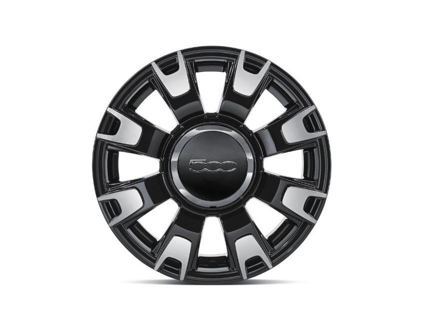 """14"""" Leichtmetallfelgen-Satz silber/schwarz - Fiat 500"""